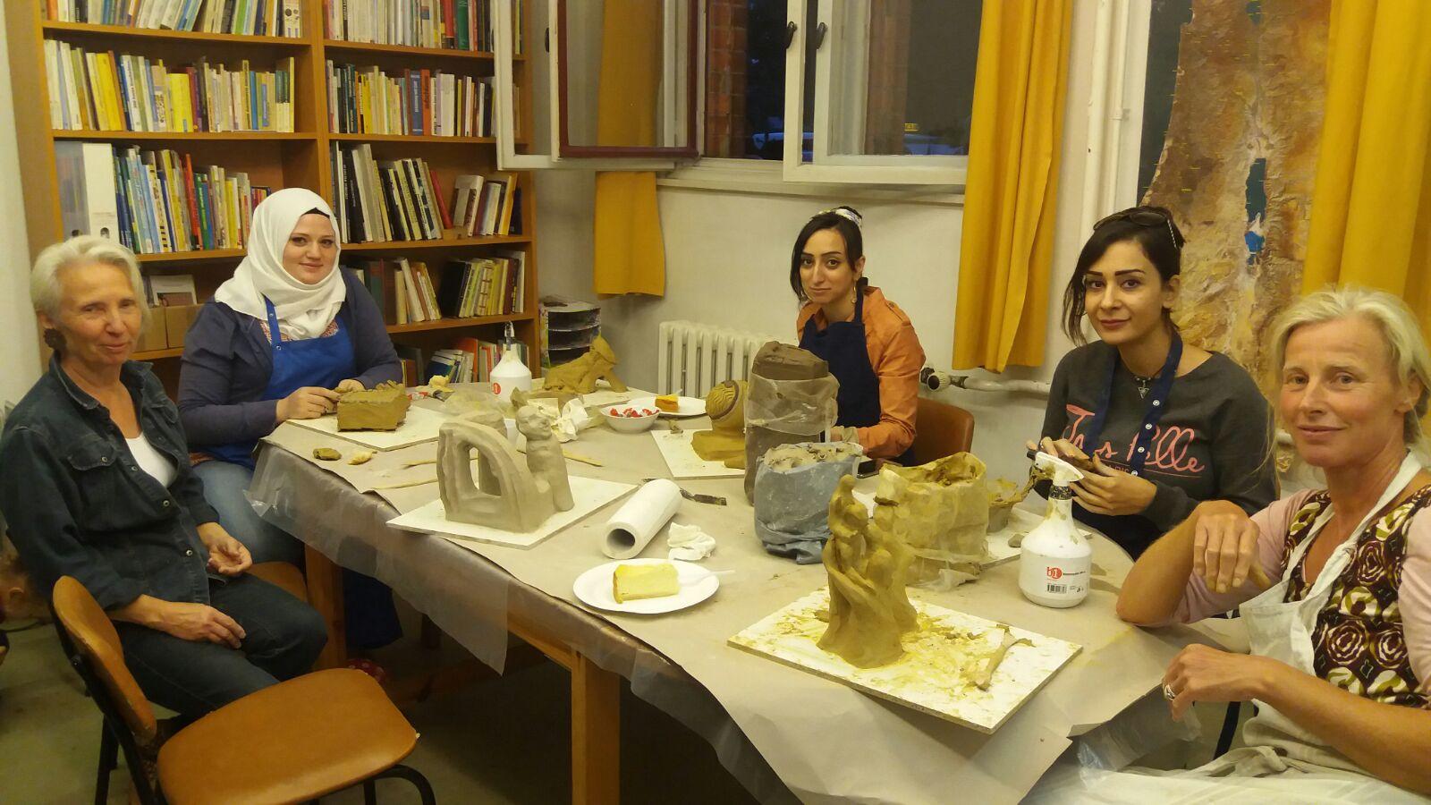 Skulpturen-Workshop mit Frau Sustersic